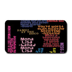 Panic At The Disco Northern Downpour Lyrics Metrolyrics Medium Bar Mats by Onesevenart