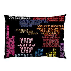 Panic At The Disco Northern Downpour Lyrics Metrolyrics Pillow Case by Onesevenart