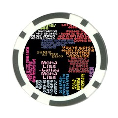 Panic At The Disco Northern Downpour Lyrics Metrolyrics Poker Chip Card Guards (10 Pack)  by Onesevenart