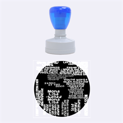 Panic At The Disco Northern Downpour Lyrics Metrolyrics Rubber Round Stamps (medium) by Onesevenart
