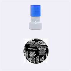 Panic At The Disco Northern Downpour Lyrics Metrolyrics Rubber Round Stamps (small) by Onesevenart