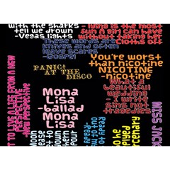 Panic At The Disco Northern Downpour Lyrics Metrolyrics Birthday Cake 3d Greeting Card (7x5) by Onesevenart