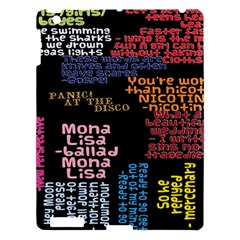 Panic At The Disco Northern Downpour Lyrics Metrolyrics Apple Ipad 3/4 Hardshell Case by Onesevenart