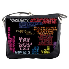 Panic At The Disco Northern Downpour Lyrics Metrolyrics Messenger Bags by Onesevenart