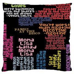 Panic At The Disco Northern Downpour Lyrics Metrolyrics Large Cushion Case (two Sides) by Onesevenart