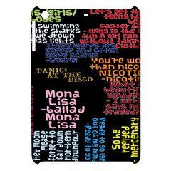 Panic At The Disco Northern Downpour Lyrics Metrolyrics Apple Ipad Mini Hardshell Case by Onesevenart