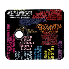Panic At The Disco Northern Downpour Lyrics Metrolyrics Samsung Galaxy S  Iii Flip 360 Case by Onesevenart