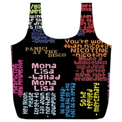 Panic At The Disco Northern Downpour Lyrics Metrolyrics Full Print Recycle Bags (l)  by Onesevenart