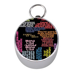 Panic At The Disco Northern Downpour Lyrics Metrolyrics Mini Silver Compasses by Onesevenart