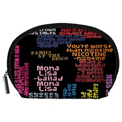 Panic At The Disco Northern Downpour Lyrics Metrolyrics Accessory Pouches (large)  by Onesevenart