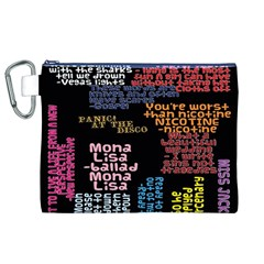 Panic At The Disco Northern Downpour Lyrics Metrolyrics Canvas Cosmetic Bag (xl) by Onesevenart