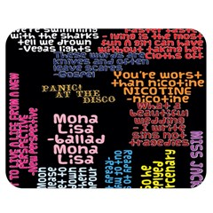 Panic At The Disco Northern Downpour Lyrics Metrolyrics Double Sided Flano Blanket (medium)  by Onesevenart
