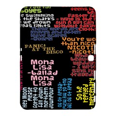 Panic At The Disco Northern Downpour Lyrics Metrolyrics Samsung Galaxy Tab 4 (10 1 ) Hardshell Case  by Onesevenart