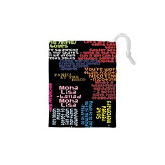 Panic At The Disco Northern Downpour Lyrics Metrolyrics Drawstring Pouches (xs)  by Onesevenart