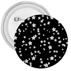 Black And White Starry Pattern 3  Buttons by DanaeStudio