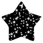 Black And White Starry Pattern Ornament (Star)
