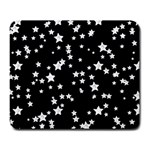 Black And White Starry Pattern Large Mousepads