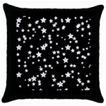Black And White Starry Pattern Throw Pillow Case (Black)