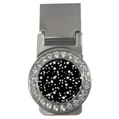 Black And White Starry Pattern Money Clips (cz)  by DanaeStudio