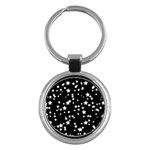 Black And White Starry Pattern Key Chains (Round)