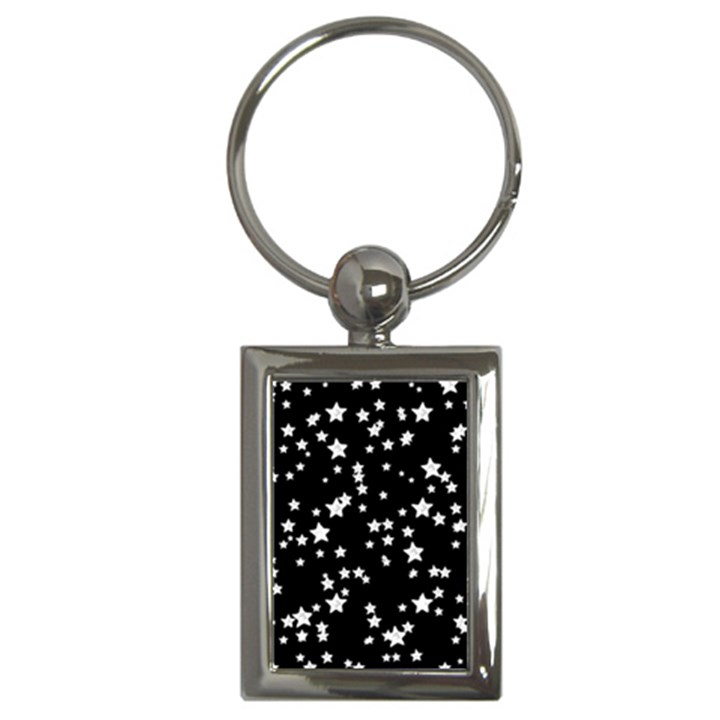 Black And White Starry Pattern Key Chains (Rectangle)