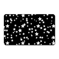 Black And White Starry Pattern Magnet (rectangular) by DanaeStudio