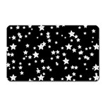 Black And White Starry Pattern Magnet (Rectangular)
