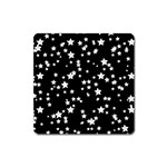 Black And White Starry Pattern Square Magnet