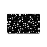 Black And White Starry Pattern Magnet (Name Card)