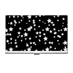 Black And White Starry Pattern Business Card Holders by DanaeStudio