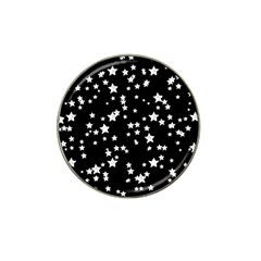 Black And White Starry Pattern Hat Clip Ball Marker by DanaeStudio