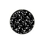 Black And White Starry Pattern Hat Clip Ball Marker (10 pack) Front