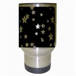 Black And White Starry Pattern Travel Mug (Silver Gray) Center