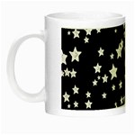 Black And White Starry Pattern Night Luminous Mugs Left