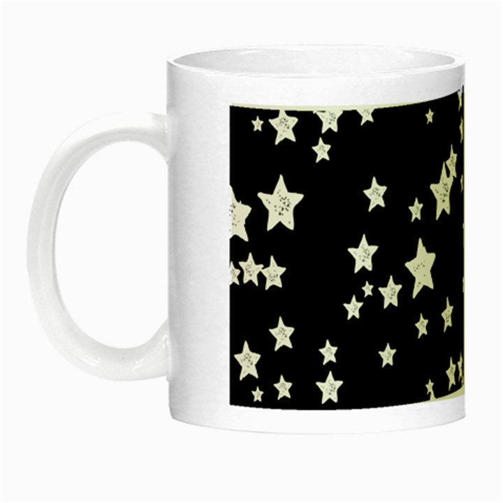 Black And White Starry Pattern Night Luminous Mugs