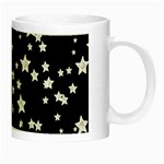 Black And White Starry Pattern Night Luminous Mugs Right