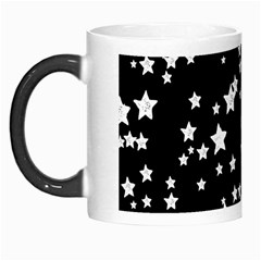 Black And White Starry Pattern Morph Mugs by DanaeStudio