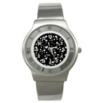 Black And White Starry Pattern Stainless Steel Watch