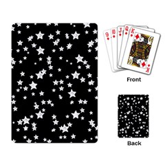 Black And White Starry Pattern Playing Card by DanaeStudio