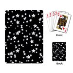Black And White Starry Pattern Playing Card