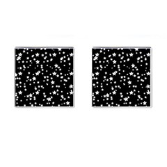 Black And White Starry Pattern Cufflinks (square) by DanaeStudio