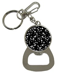 Black And White Starry Pattern Bottle Opener Key Chains by DanaeStudio