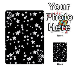 Black And White Starry Pattern Playing Cards 54 Designs  by DanaeStudio
