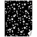Black And White Starry Pattern Canvas 12  x 16   16 x12 Canvas - 1
