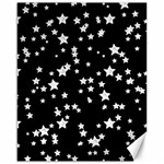 Black And White Starry Pattern Canvas 16  x 20