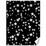 Black And White Starry Pattern Canvas 36  x 48
