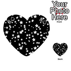 Black And White Starry Pattern Playing Cards 54 (heart)  by DanaeStudio