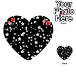 Black And White Starry Pattern Playing Cards 54 (Heart)  Front - Heart3