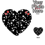 Black And White Starry Pattern Playing Cards 54 (Heart)  Front - DiamondA
