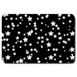 Black And White Starry Pattern Large Doormat